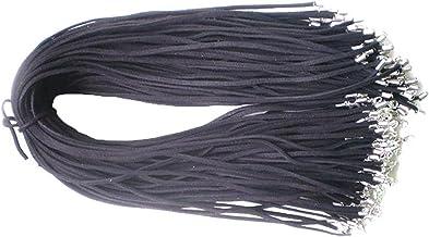 Jewelry rope 10 stks zwart bruin suède lederen string ketting koord sieraden 50cm kralen gevlochten maken met handgemaakte...