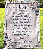 Personalized Blanket- Aunt Blanket, We Hug This Blanket, Grandma Gifts, Mama Mimi Nana Birthday, Grandkids Names, Sherpa Fleece Blanket, Gift for Mom