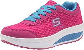 Scarpe da Donna Traspirante Leggere Snelle Scarpe da Ginnastica con Muffin sul Fondo Spesso Sneakers Sportive Running Bass...
