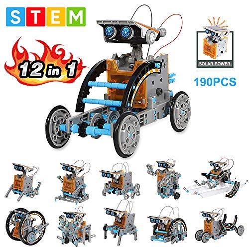 OFUN Juguete Robot Stem, 12 en 1 Robot Solar Divertido Juego Creativo Juegos...