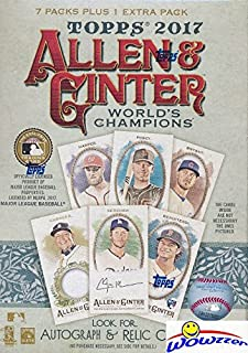2017 Topps Allen & Ginter Baseball Factory Sealed Blaster Box! Look for Rookies & Autographs of Aaron Judge, Cody Bellinger & Many More! 1 Mini Card in Every Pack! WOWZZER!
