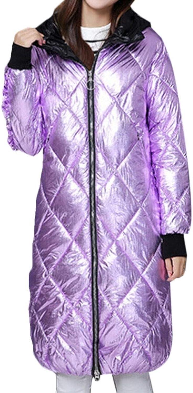 Gocgt Women's Down Jackets Thicken Winter Hoodie Long Overcoat Coat Parka