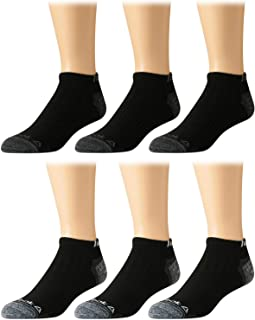 Reebok Mens' Breathable No-Show Low Cut Basic Cushion Socks (6 Pack)