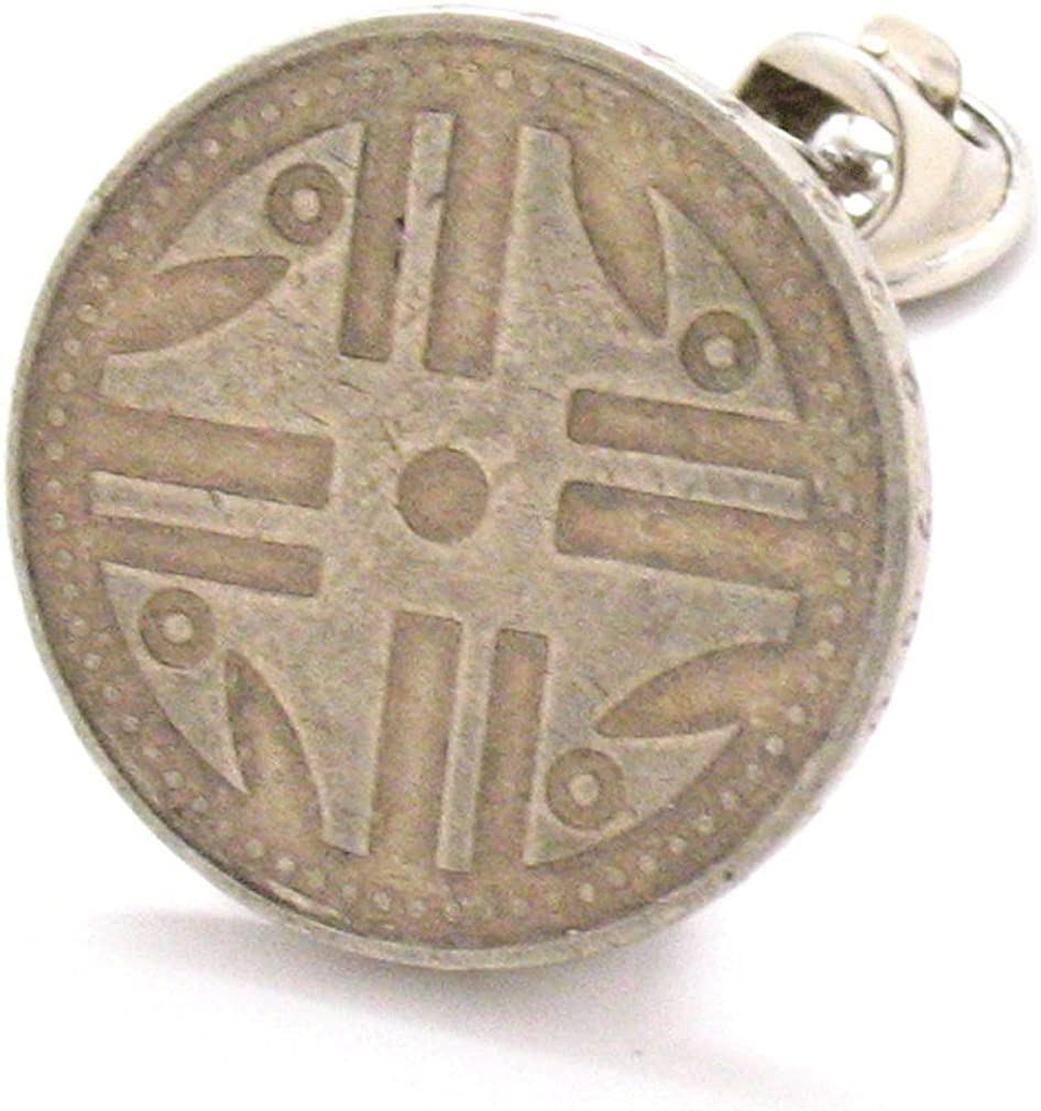 Native American Coin Tie Genuine Tack Lapel Pin Turquoise Ind Color Max 76% OFF Suit