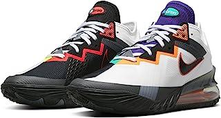 Nike Men's Lebron XVIII Low Greedy White/Black-Iron Grey-Volt (CV7562 100) -