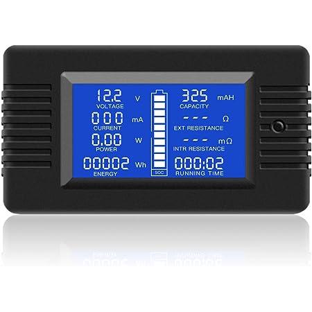 YZLSM Digital-multimeter Meter Batterie-Monitor Mit Led-anzeige F/ür Energien-Bank Und Mehr-Monitor USB-stromspannungsdetektor