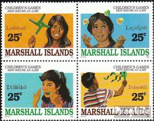 Marshall-îles 280-283 Bloc de Quatre (complète.Edition.) 1990 Jeux d'Enfants (Timbres pour Les collectionneurs)