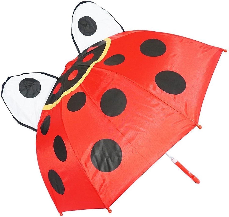 gran selección y entrega rápida Kiddi Choice 3D PopUp Ladybug Cute Cute Cute Umbrella, rojo  precio al por mayor