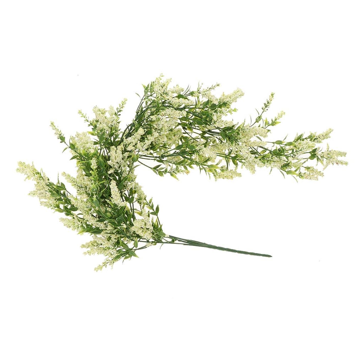 遡る祖母夕暮れ現実的 人工 ラベンダー花 装飾 美しい 4色選べる - クリーム