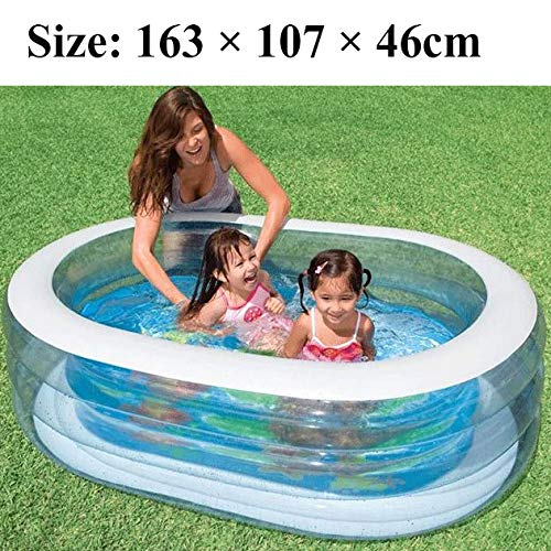 inflatable toys Sommer Neue Transparente Ovale Aufblasbare Schwimmbecken Aufblasbare Spielzeuge, Kinder Marine Ball Pool Faltbare Badewanne, Geeignet Für Garten Im Freien - 163 × 107 × 46 cm A