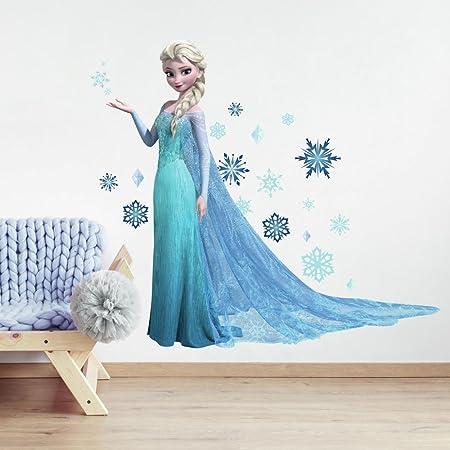 Disney Olaf Elsa Wall Stickers For Kids Room Decor Croissance Chart Hauteur Mesure