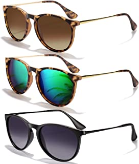 Sunglasses for Women Men Polarized uv Protection Fashion Vintage Round Classic Retro Aviator Mirrored Sun glasses
