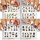 Halloween Nail Art Water Slide Tattoo Stickers Decals Fun and Scary - Pack of 4