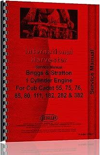 International Harvester Cub Cadet 282 Lawn and Garden Tractor Service Manual