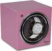 Single Watch Winder - RAPPORT London Evo Cube Watch Winder - Sophisticated Modern Watch with Quiet Motor