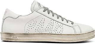 John CAC/White Leather Low-Top Italian Sneaker