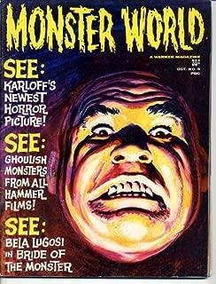 Monster World 5 TOR JOHNSON Boris Karloff BELA LUGOSI Ed Wood BRIDE OF THE MONSTER Hammer Films H P LOVECRAFT October 1965