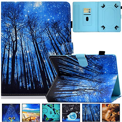 Universal Case for 9.0-10.5 inch Tablet,Artyond PU Leather Card Slot Folio Stand Case for Apple/Samsung/Kindle/Huawei/Lenovo/Android/Dragon Touch 9.7 9.6 10.1 10.5 Inch Tablet (Sky Forest)