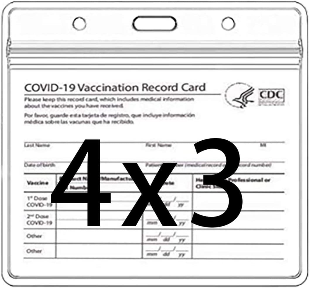 CDC Vaccination Card Protector 4 Immunization 3 Industry No. 1 X Max 52% OFF Inches Record