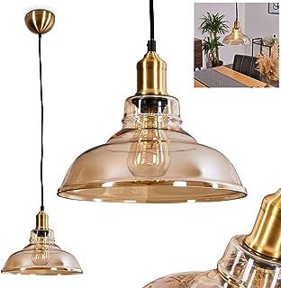 Color : White KMYX Retro Nostalgie Petit Verre Lustre R/étro Fil Avec Lampe En Laiton Unique T/ête Pendentif Lampe Pour Bar Balcon Bar Caf/é Plafond Luminaire Suspension R/églable