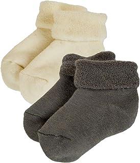 Janus Merino Wool Baby Toddler 2-Pack Terry Socks. Made in Norway.