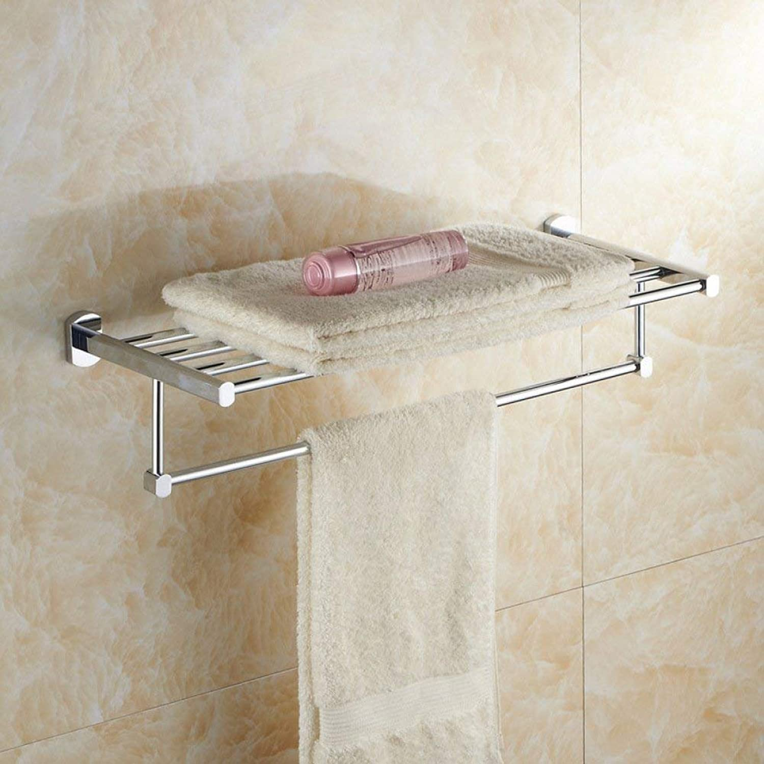 Modern Minimalist Style Home Bathroom Hair-Towels, a Process of Electroplating, Easy to Clean, The Inssizetion of Drilling, top of The Range Hotel with Bathroom,Shelves,Length 60cm Money
