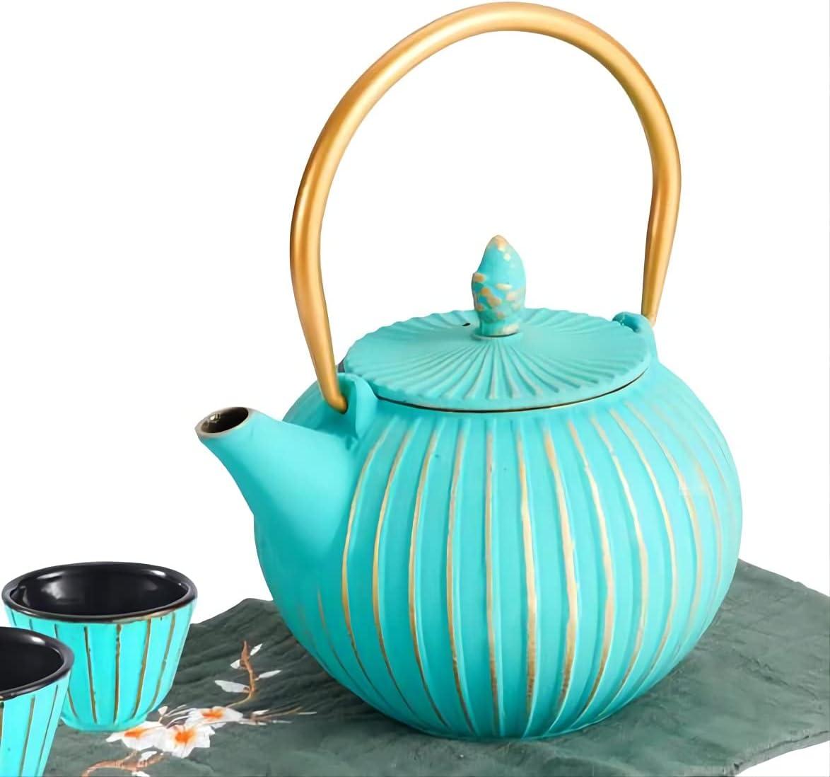 MILVBUSISS Cast Max 62% OFF Iron Teapot with fo Regular dealer Tea Kettle 2 Cups