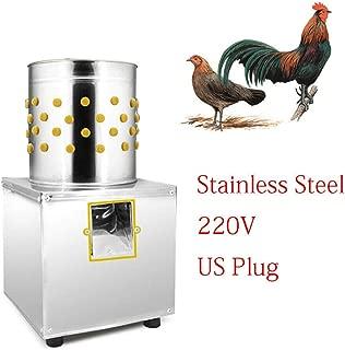 LFJD 220V 1kg/2.1 lbs chicken plucker Machine Duck Plucker Machine Poultry Plucker Machine Quail Plucker - Electric Stainless Steel Poultry Plucker,Poultry Feather Removal Machine for chickens, ducks
