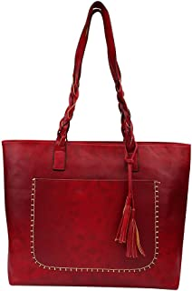 Rakkiss Women Handbag Big Bag Large Capacity Shoulder Bag New Tassel Simple Personality Female Handbags