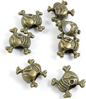 430 PCS Metal Antique Bronze Color Jewelry Making Supplies Charms Beading Crafting Wholesale 65313 Pirate Skull Loose Beads