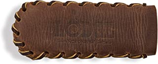 Lodge Nokona Leather Hot Handle Holder, Spiral Stitched, Coffee