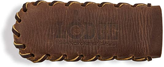 product image for Lodge Nokona Leather Hot Handle Holder, Spiral Stitched, Coffee