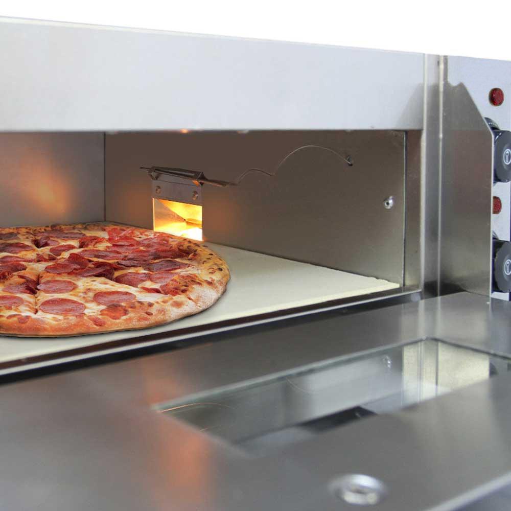 Kukoo - Horno de Pizza Eléctrico de 3KW Horno para Pizza con Cajón de Pizza Profesional Acero Inoxidable 350 ℃ Mini Horno de Sobremesa Un Solo Horno de Cocina Eléctrica 220V: Amazon.es:
