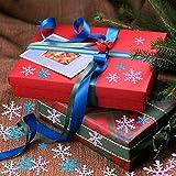 HOWAF 500 Stück Weihnachten Schneeflocken Konfetti, Weihnachten Winter deko Blau und Weiß Schneeflocken Streudeko Schneeflocken Konfetti Tischdeko, Hochzeit, Geburtstag, Weihnachts Dekorationen - 7