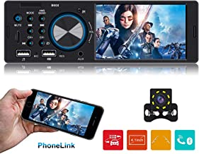 Single Din Car stereo with Bluetooth Car Stereo with bakcup camera Car Radio Player Car Audio with 4.1 Inch HD Screen support Steering Wheel Remote Control