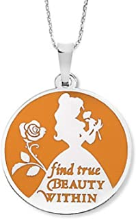 Disney Park Alex and Ani Belle Pendant Necklace - Beauty and The Beast