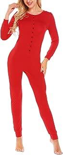 Bandage One Piece Pajama Romper Underwear Set Long Sleeve Jumpsuit Sleepwear for Women