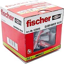 Fischer DUOPOWER 10 x 50, universele pluggen, krachtige 2-componenten pluggen, kunststof pluggen voor bevestiging in beto...