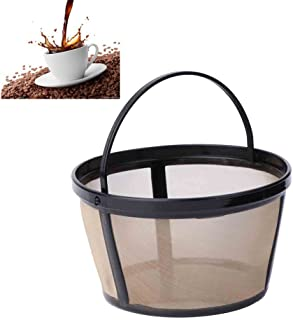 Kangnice Reusable 10-12 Cup Coffee Filter Basket-style Permanent Metal Mesh Tool BPA Free