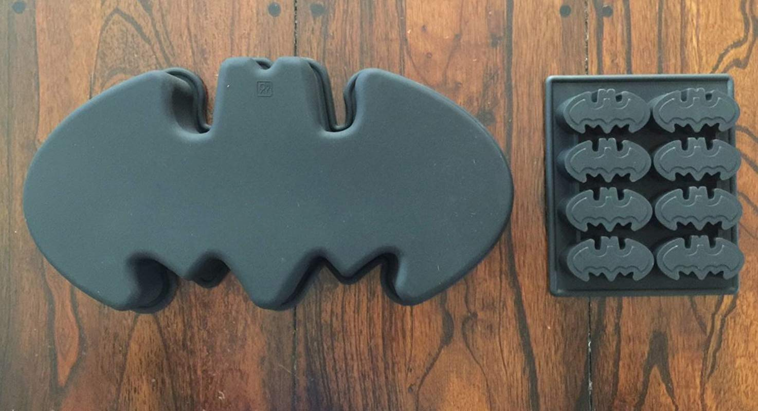 Batman Logo Silicone Birthday Cake Pan Chocolate Candy Mold Ice Tray Set Of 2 Molds