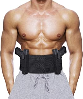Accmor Belly Band Holster for Concealed Carry, Elastic Breathable Waistband Gun Holster for Men Women, Right and Left Hand Draw