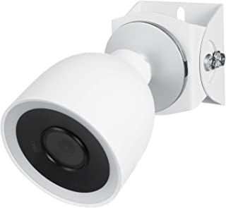 Wasserstein Adjustable Metal Mount Compatible with Nest Cam IQ Outdoor - Extra Flexibility for Your Nest Cam (White)