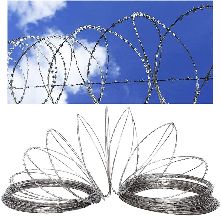 Galvanized Razor Wire - Fence R Helical A surprise price is realized Max 66% OFF Stretchable
