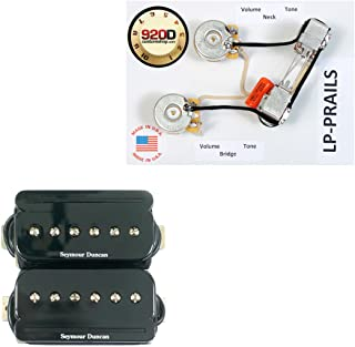 Seymour Duncan SHPR-1 P-Rails Humbucker Pickup Set, Black w/Wiring Harness