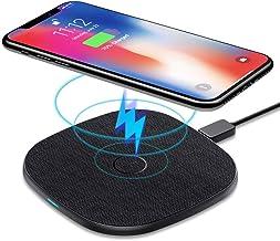 AGPTEK Chargeur Sans Fil Rapide, Chargeur à Induction Rapide Qi 10W pour iPhone 12/11 Pro Max/XS/XR/X/8 Plus, Samsung Galaxy S20+/S10 Plus/S9/S8/S7/Note 10, Huawei Mate 20 Pro, Airpods