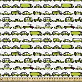 ABAKUHAUS Autos Gewebe als Meterware, Limousine Bus Reisen