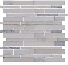 Greecian White Interlocking Pattern Polished Mosaic,10 SFT/Case(10 Pcs)