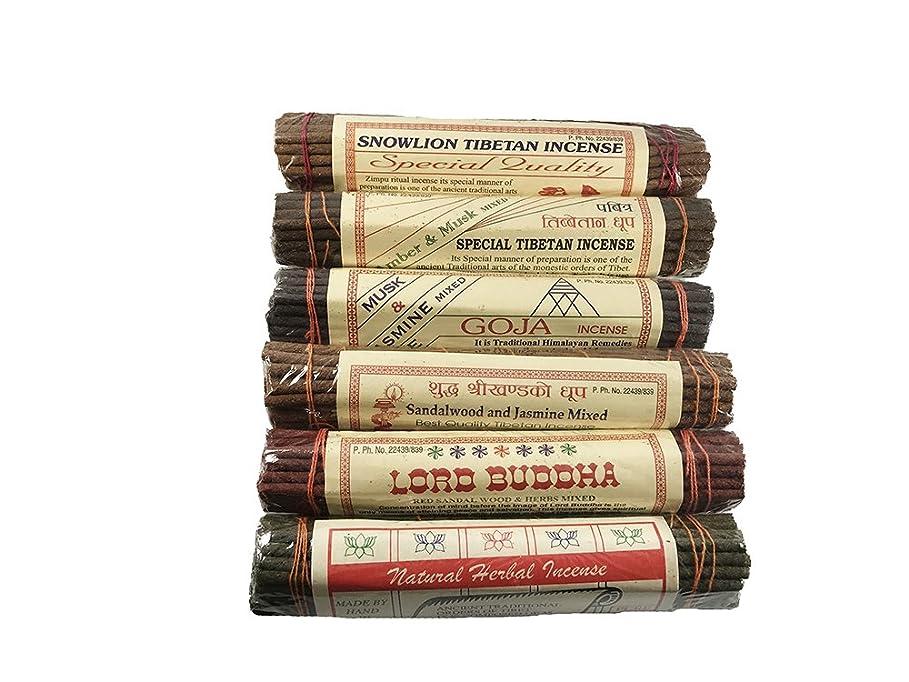 不正直物質によってチャンドラDeviチベットIncense Sticks組み合わせパック?–?Incenseからチベット( 6パック)
