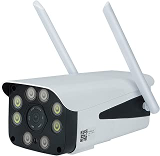 Nrpfell 3G 4G Tarjeta SIM CáMara de Seguridad CCTV 1080P HD WiFi CáMara IP Exterior IP66 Impermeable P2P Vigilancia de VisióN Nocturna por Infrarrojos Enchufe de EU