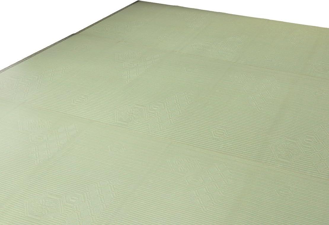 トラフプロトタイプ快適ベタつかない 純和風 い草調上敷き PPカーペット?ラグ?ござ 五八間4.5帖 264cm×264cm 日本製 大正亀甲